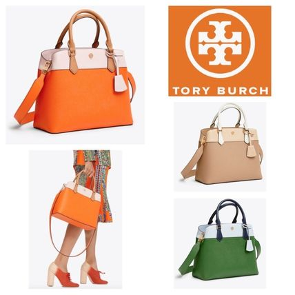 Tory Burch トートバッグ ROBINSON COLOR-BLOCK TRIPLE-COMPARTMENT TOTE