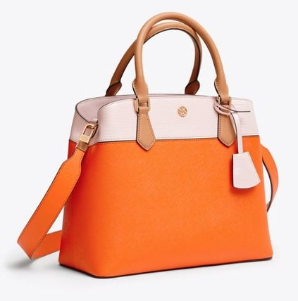 Tory Burch トートバッグ ROBINSON COLOR-BLOCK TRIPLE-COMPARTMENT TOTE(2)
