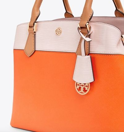 Tory Burch トートバッグ ROBINSON COLOR-BLOCK TRIPLE-COMPARTMENT TOTE(3)