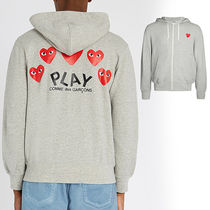 COMME DES GARCONS PLAY ロゴ入りコットン ジャージ フーディ