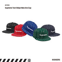 人気話題!Supreme Text Stripe New Era Cap