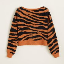 [MANGO] Tiger print sweater 虎柄 セーター