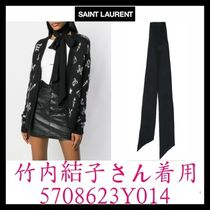 ★VIP★竹内結子さん着用☆SAINT LAURENT☆skinny scarf
