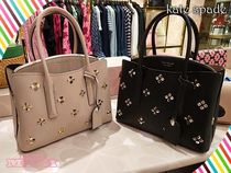お洒落★kate spade★ MARGAUX SPADE STUD MEDIUM SATCHEL