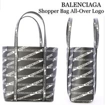 バレンシアガ Shopper Bag All-Over Logo
