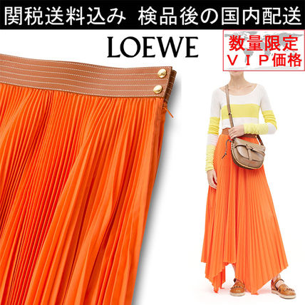 少数入荷SALE★LOEWE★Pleated Skirt Orange
