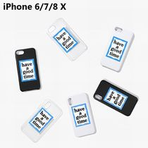 HAVE A GOOD TIME★ブルーFRAME IPHONE CASE FOR IPHONE 6/7/8,X
