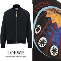 LOEWE  bomber jacket with curly print