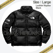 Lサイズ /Supreme The North Face Leather Nuptse Jacket レザー