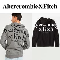 SALE【Abercrombie】BACK LOGO HOODIE ★メガロゴパーカー★