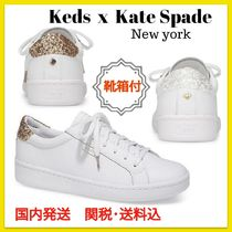 SALE!【Keds x Kate Spade】 ACE LEATHER GLITTER スニーカー