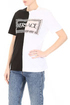 関税送料込【VERSACE】 Bicolor T-Shirt With Logo