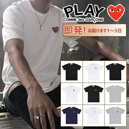 COMME des GARCONS Tシャツ・カットソー 《大人気》COMME des GARCONS Play ハートロゴTシャツ カラバリ