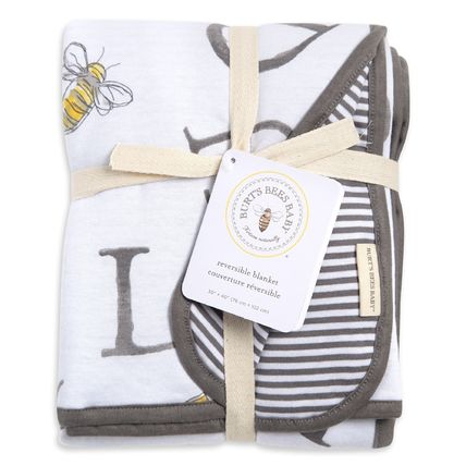 Burt's Bees キッズ・ベビー・マタニティその他 (日本未入荷) Jersey Knit Organic Reversible Baby Blanket(2)