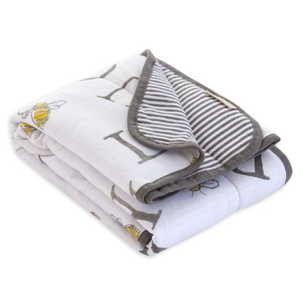 Burt's Bees キッズ・ベビー・マタニティその他 (日本未入荷) Jersey Knit Organic Reversible Baby Blanket(3)