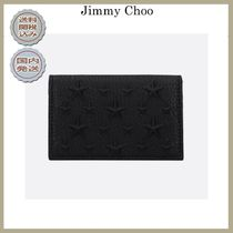2019春夏Jimmy Choo Belsize card case in grained leather