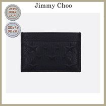 2019春夏Jimmy Choo Dean card case in grained leather