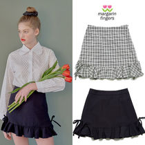 Margarin Fingers★韓国 ミニスカートRUFFLE HEM MINI SKIRT 2色