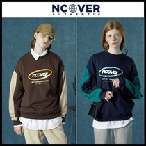 ☆NCOVER☆ スウェットシャツ Round logo sweat shirt (3 color)
