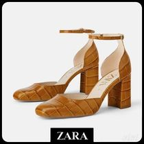 ★ZARA★ザラ  ANIMAL PRINT LEATHER HIGH-HEEL SHOES