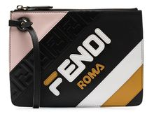 FENDI Fendi Mania Triplette XS leather clutch bag