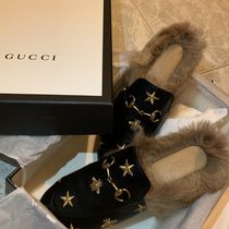 *19SS*【Gucci】Princetown embroidered leather slipper関税込