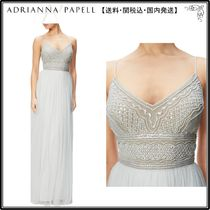 【海外限定】AdriannaPapellガウン☆Beaded Bodice Sleeveless G