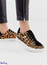 ★ASOS★DESIGN Dove lace up trainers in leopard mix