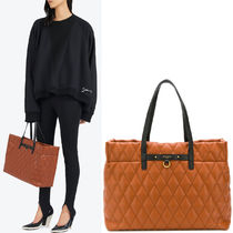 19SS G459 DUO TOTE BAG IN QUILTED CANVAS