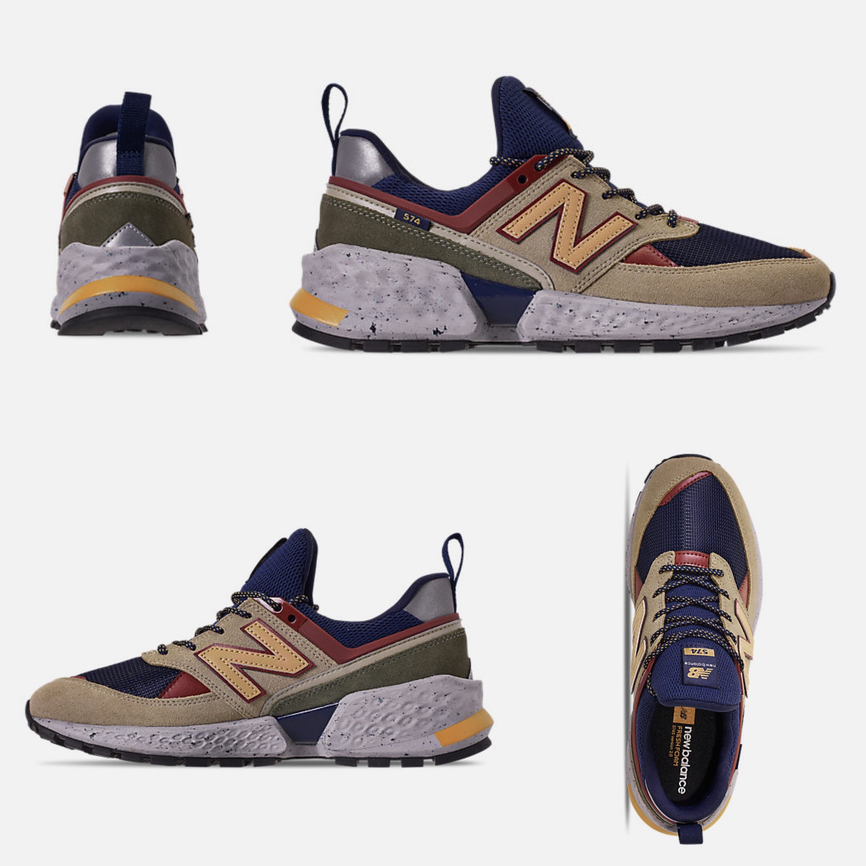 cheap for discount f341f d3d92 New Balance 574 2018-19AW Unisex Street Style Sneakers (MS574LTA 323)