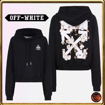 ★OFF-WHITE★floral+arrows+Jerseyクロップドパーカー 関送込!!