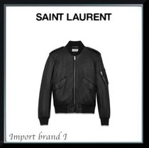 【SAINT LAURENT】BOMBER JACKET IN SOFT LEATHER