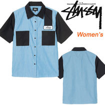 ● STUSSY ●人気! Women's DORIS STRIPE GARAGE シャツ 即発