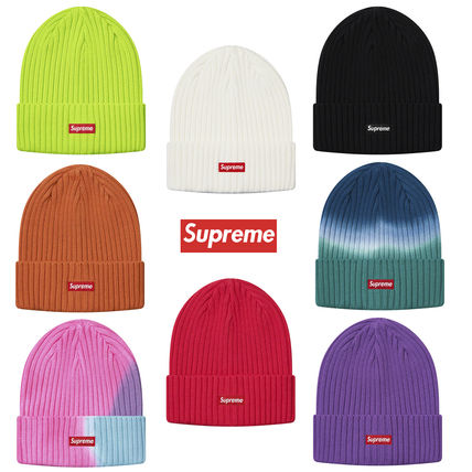 Supreme 帽子その他 送料込19SS SUPREME OVERDYED RIBBED BEANIE CAP BOX LOGO