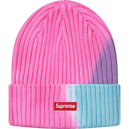 Supreme 帽子その他 送料込19SS SUPREME OVERDYED RIBBED BEANIE CAP BOX LOGO(3)