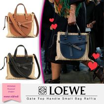 LOEWE/ロエベ★Gateトップハンドルスモール ラフィア 2WAYバッグ