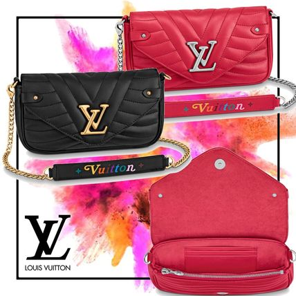 Louis vuitton ルイヴィトン NEW WAVE チェーン ポシェット