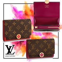 Louis vuitton フロール FLORE コンパクト 財布 モノグラム