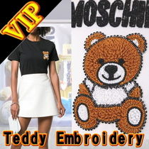 "Moschino  ""Teddy Bear""  Embroidery 刺繍 T-Shirt"