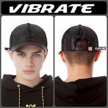 【VIBRATE】新作★SUEDE TAPE POINT BALL CAP(BLACK)/追跡送料込