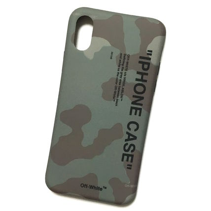 Off-White スマホケース・テックアクセサリー OFF-WHITE CAMO QUOTE iPhone case(4)
