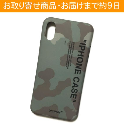 Off-White スマホケース・テックアクセサリー OFF-WHITE CAMO QUOTE iPhone case