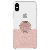 kate spade☆ Scallop バンカーリング付き iPhone X/XS ケース