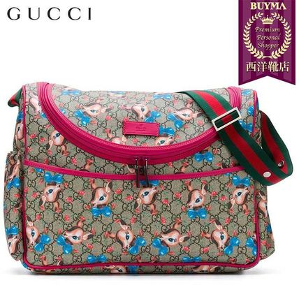 GUCCI マザーズバッグ 【正規品保証】GUCCI★19春夏★GG FAWNS CHANGING BAG