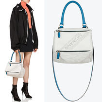 19SS G472 GIVENCHY PERFORATED SMALL PANDORA BAG IN LEATHER