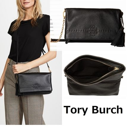 ToryBurch★Mcgraw Chain Fold-Over レザークロスボディー♪