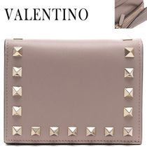VALENTINO正規品/EMS発送/送料込み Rock Stud Flap card wallet
