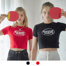 Charm's(チャームス) Tシャツ・カットソー CHARM'S★クロップド Tシャツ FOREVER YOURS CIRCLE LOGO CROP T