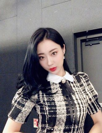 Tweed check short sleeve dress(Nine Muses キョンリ着用)