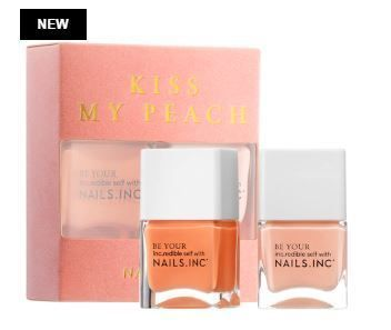 Nails Inc マニキュア Nails Inc限定☆Kiss My Peach Duo Nail Set